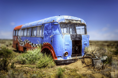 Old racing bus